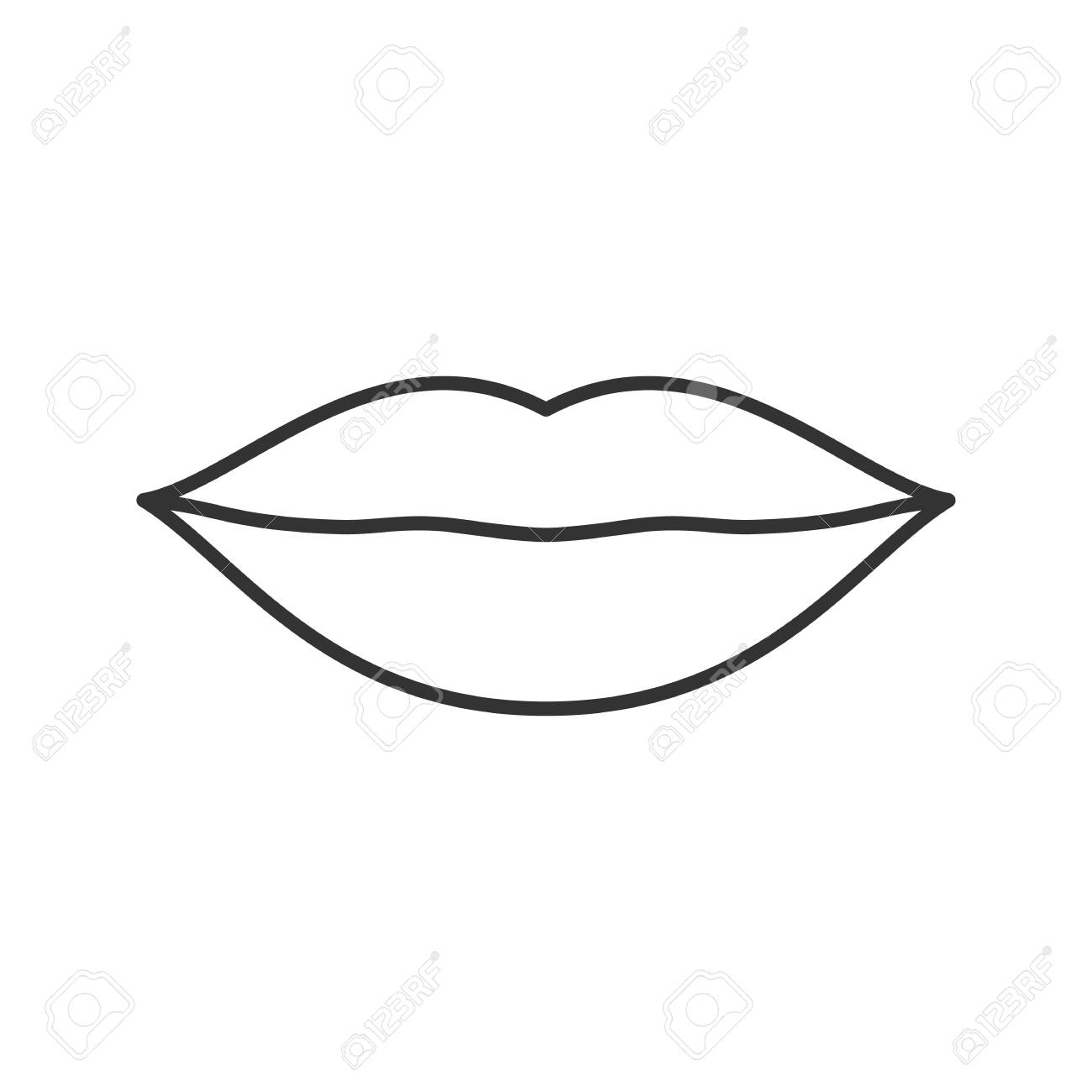 lips linear icon thin line illustration contour symbol vector