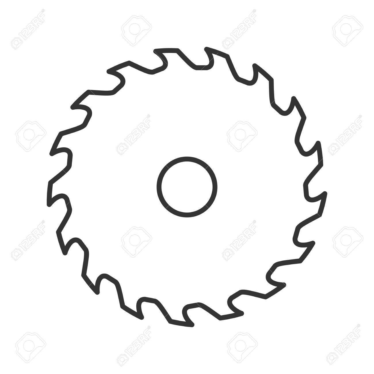 circular saw blade linear icon thin line illustration wheel rh 123rf com circular saw blade clipart free table saw blade clipart