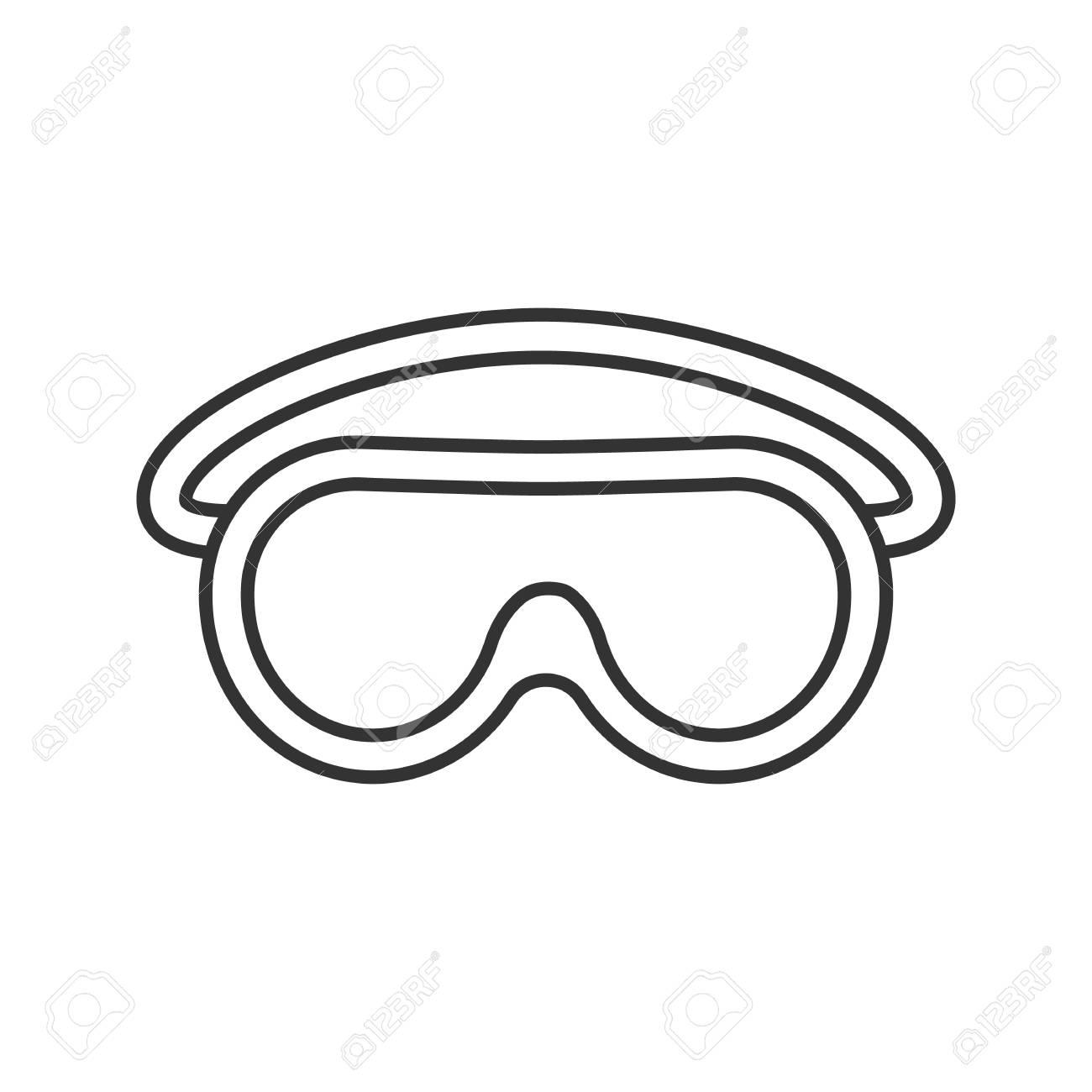161c39dfd2428d Banque d images - Icône linéaire de lunettes. Lunettes de protection  Illustration de la ligne mince. Symbole de contour. Dessin de contour isolé  Vector