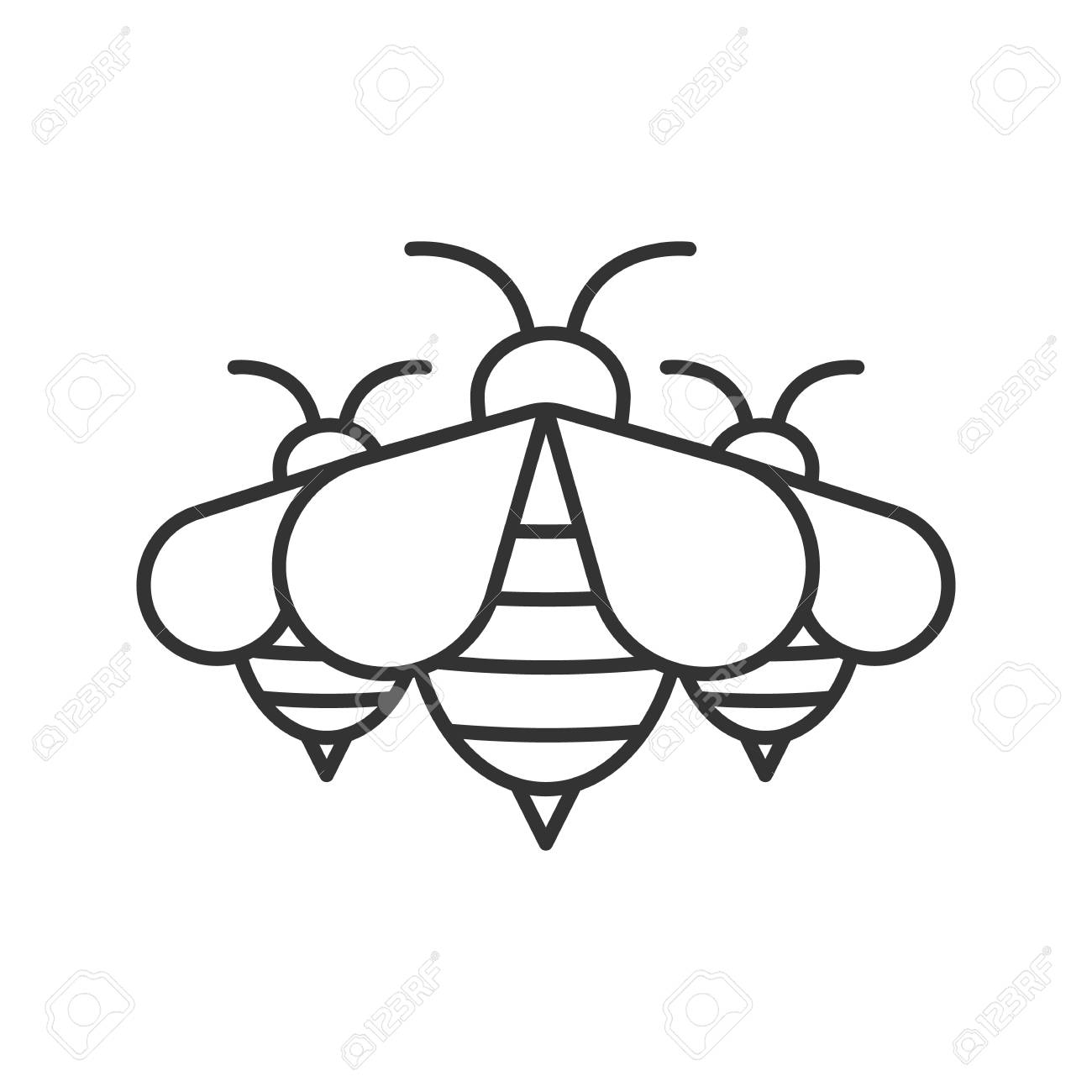 Swarm of honey bees linear icon wasps thin line illustration swarm of honey bees linear icon wasps thin line illustration apiary contour symbol publicscrutiny Images
