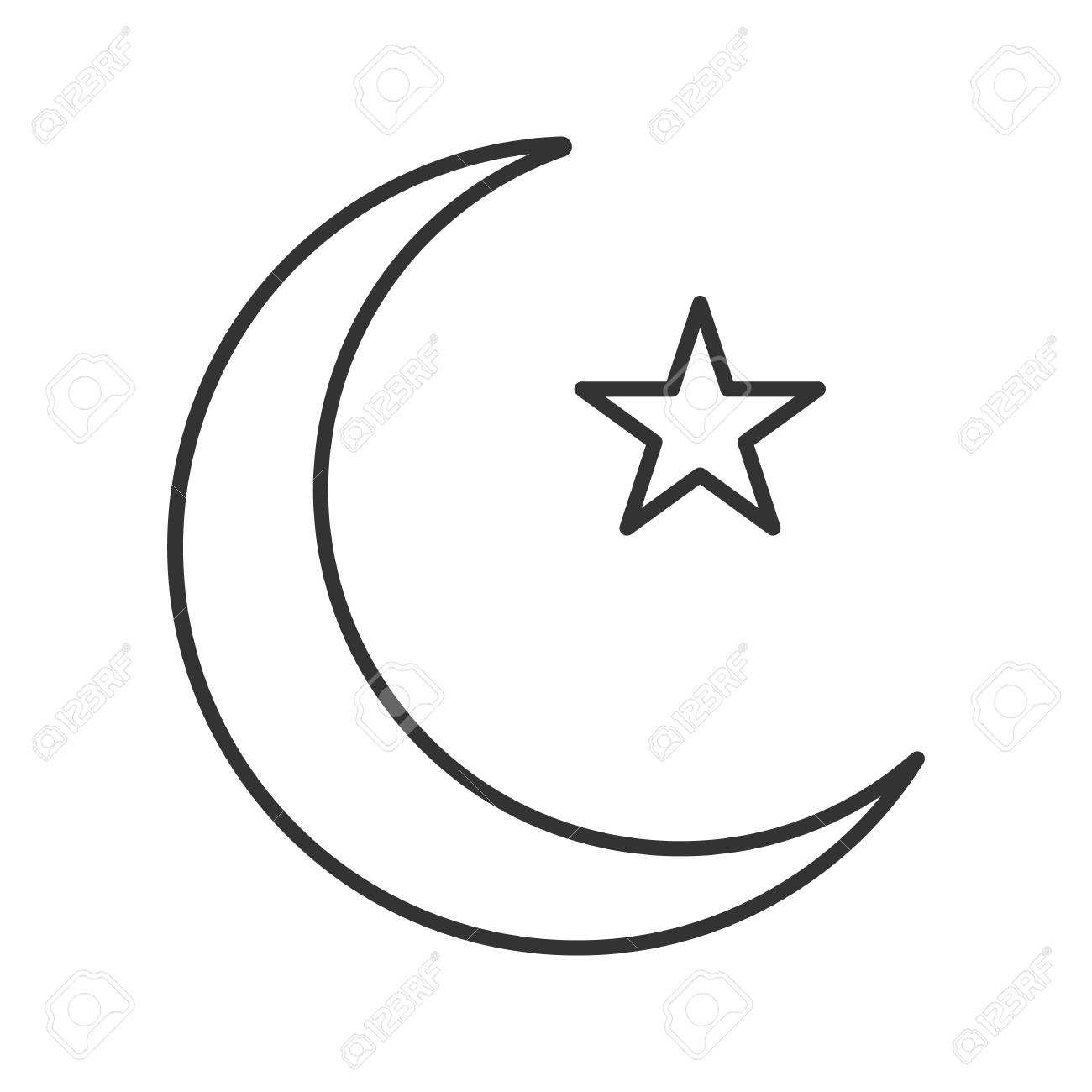 Free Icon Crescent Moon 7