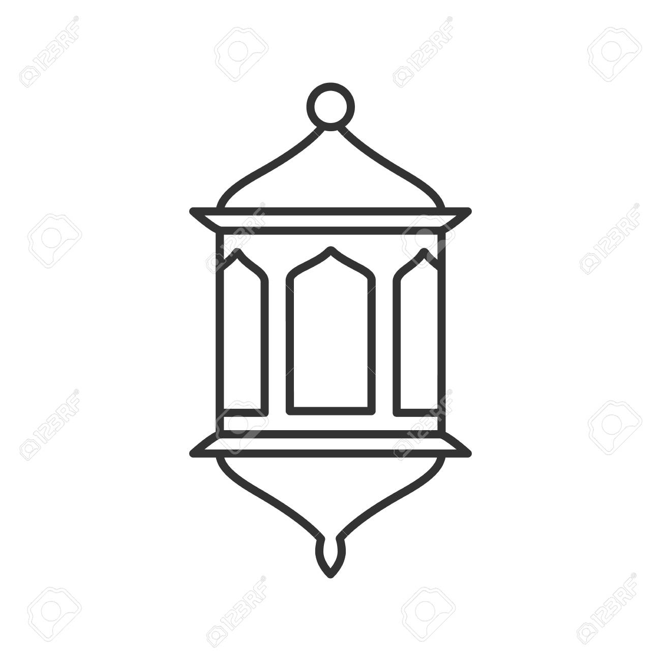 Lantern Linear Icon Thin Line Illustration Wall Lamp Contour Symbol Vector Isolated