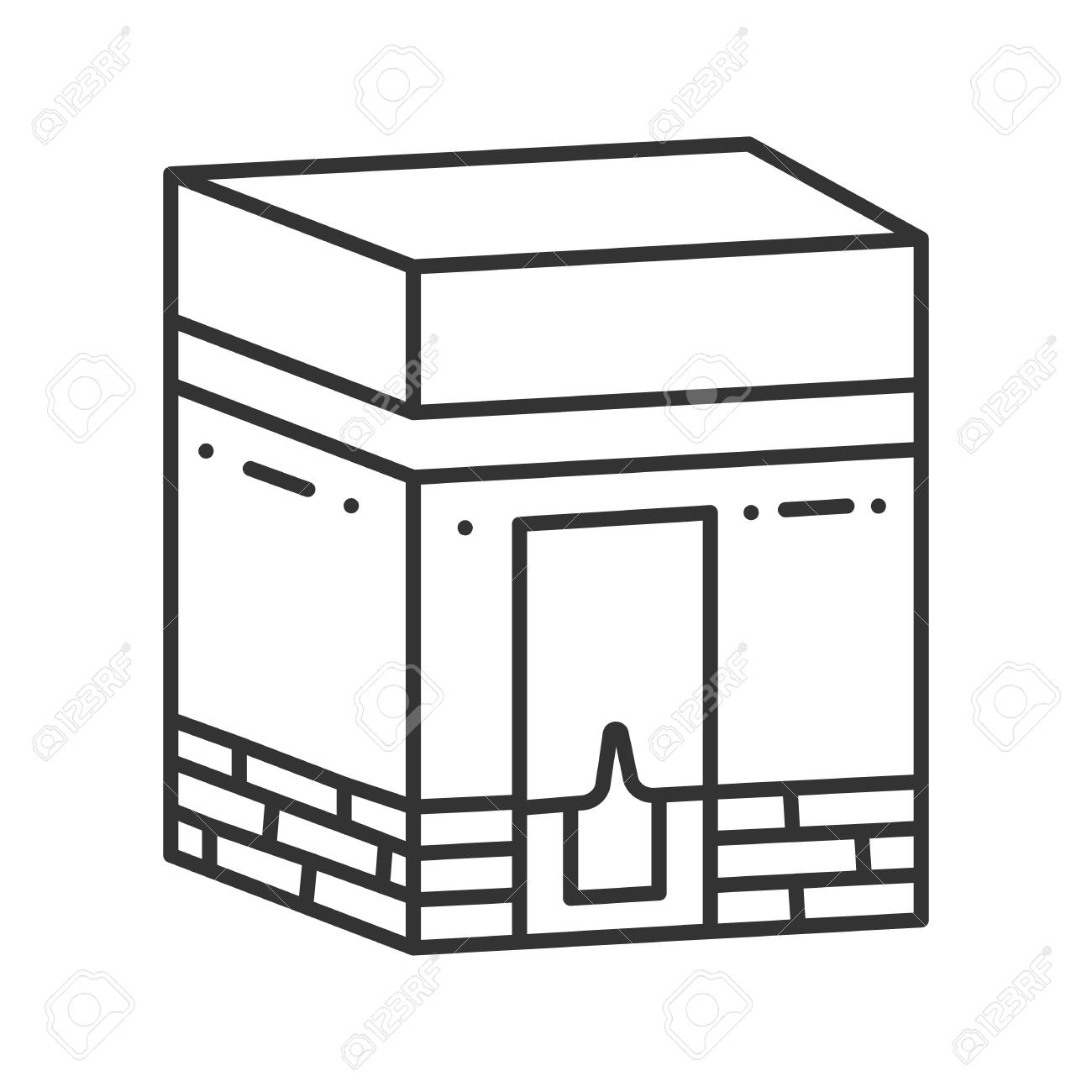 Icono Lineal De Kaaba Hayy Santuario Musulman Cultura Islamica Ilustracion De Linea Delgada Simbolo De Contorno Dibujo De Contorno Aislado Del Vector Ilustraciones Vectoriales Clip Art Vectorizado Libre De Derechos Image 95339284