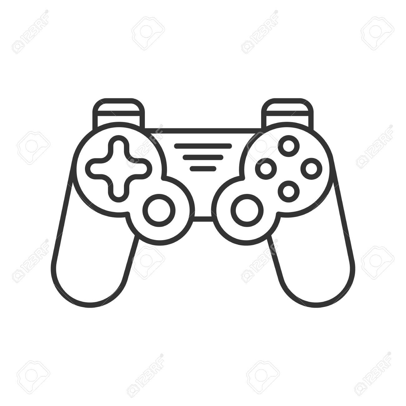 Gamepad Linear Icon Thin Line Illustration Joystick Contour