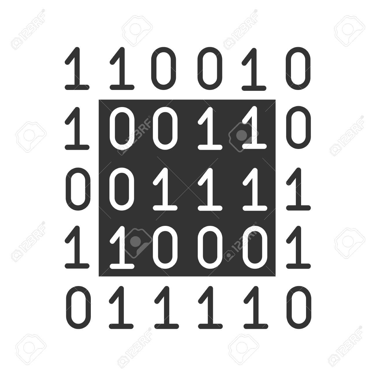 Binary code glyph icon digital data computing silhouette symbol binary code glyph icon digital data computing silhouette symbol negative space biocorpaavc Gallery