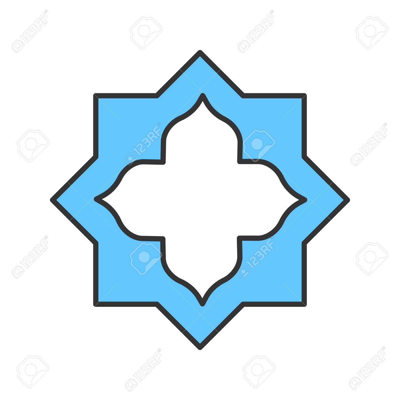 islamic star color icon muslim art isolated vector illustration rh 123rf com islamic vector ramadan islamic vector psd