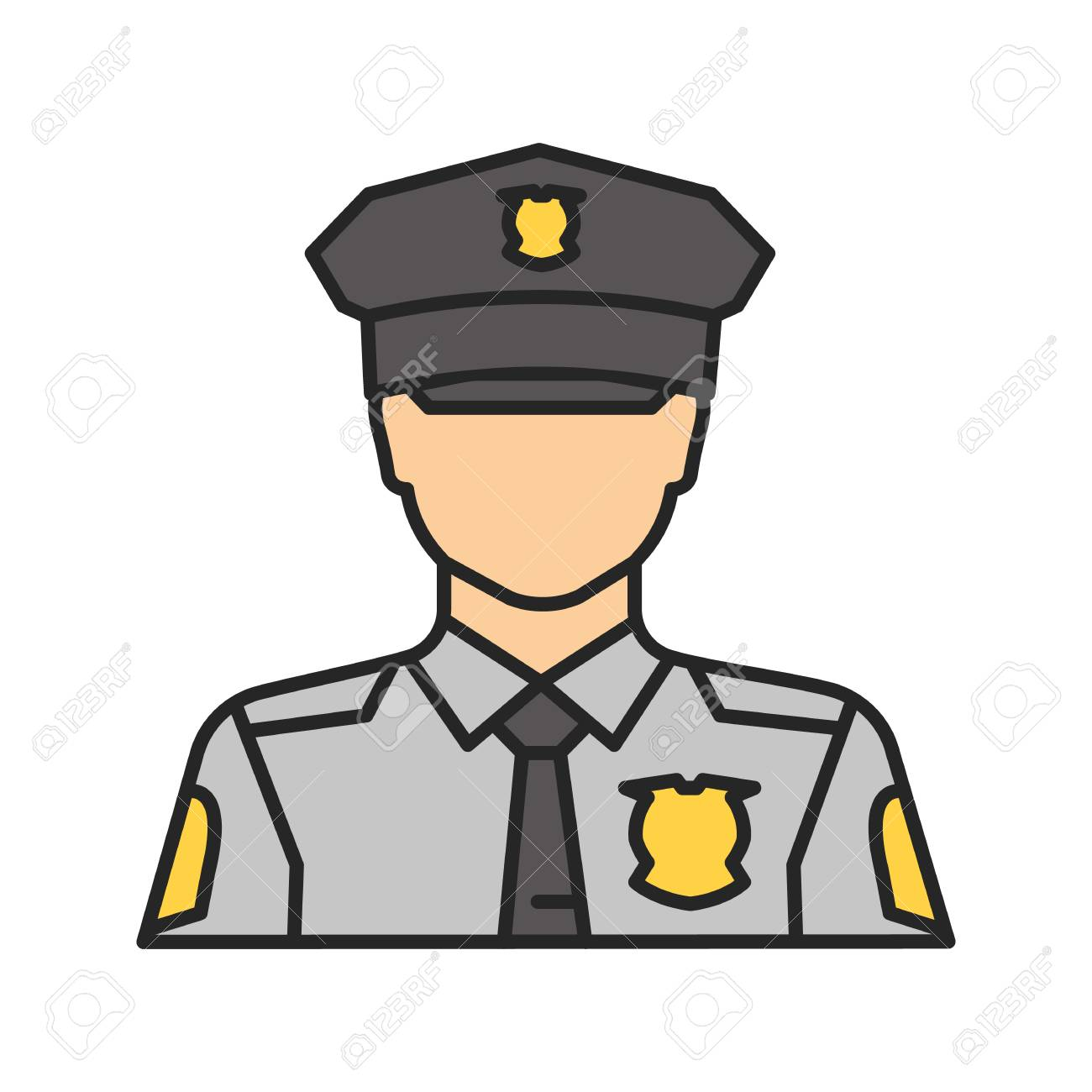 policeman color icon police officer isolated vector illustration rh 123rf com police victoria police victoria