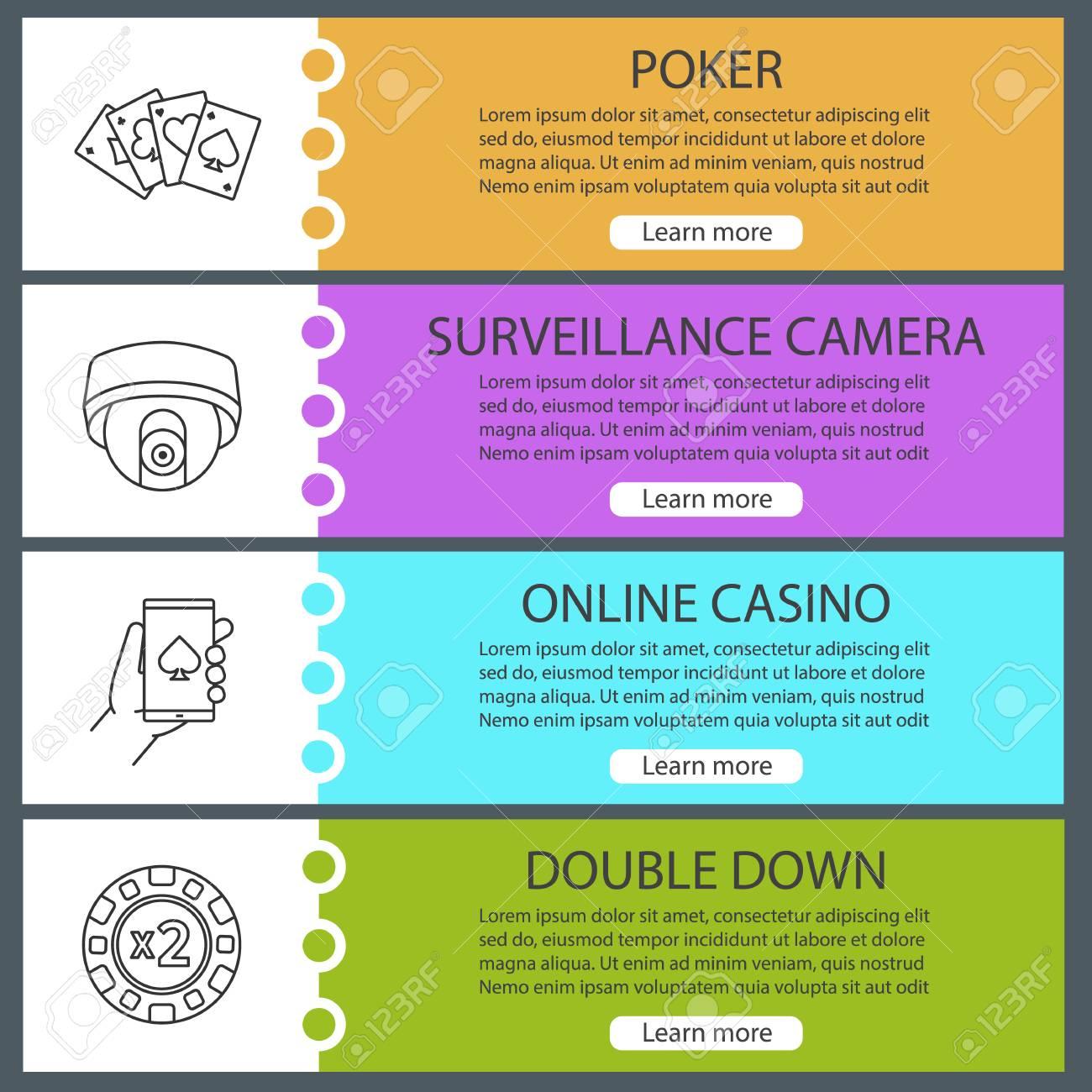 Casino Web Banner Templates Set Double Down Online Casino