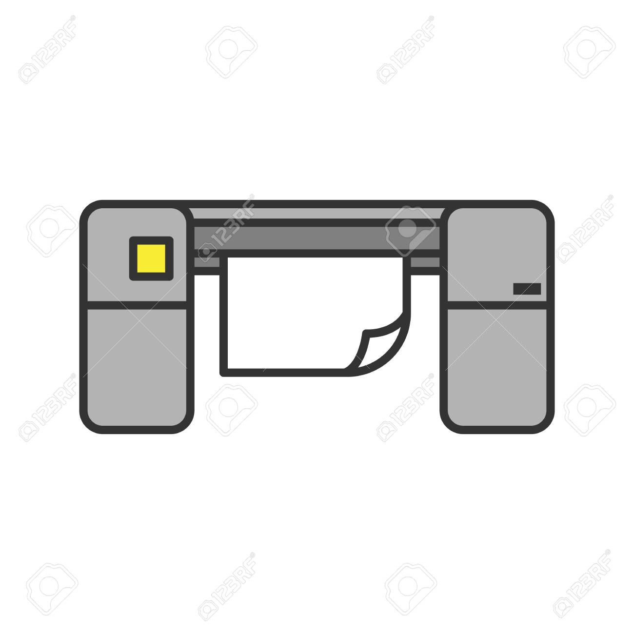 large format printer color icon printing machine isolated vector royalty free cliparts vectors and stock illustration image 104625847 large format printer color icon printing machine isolated vector