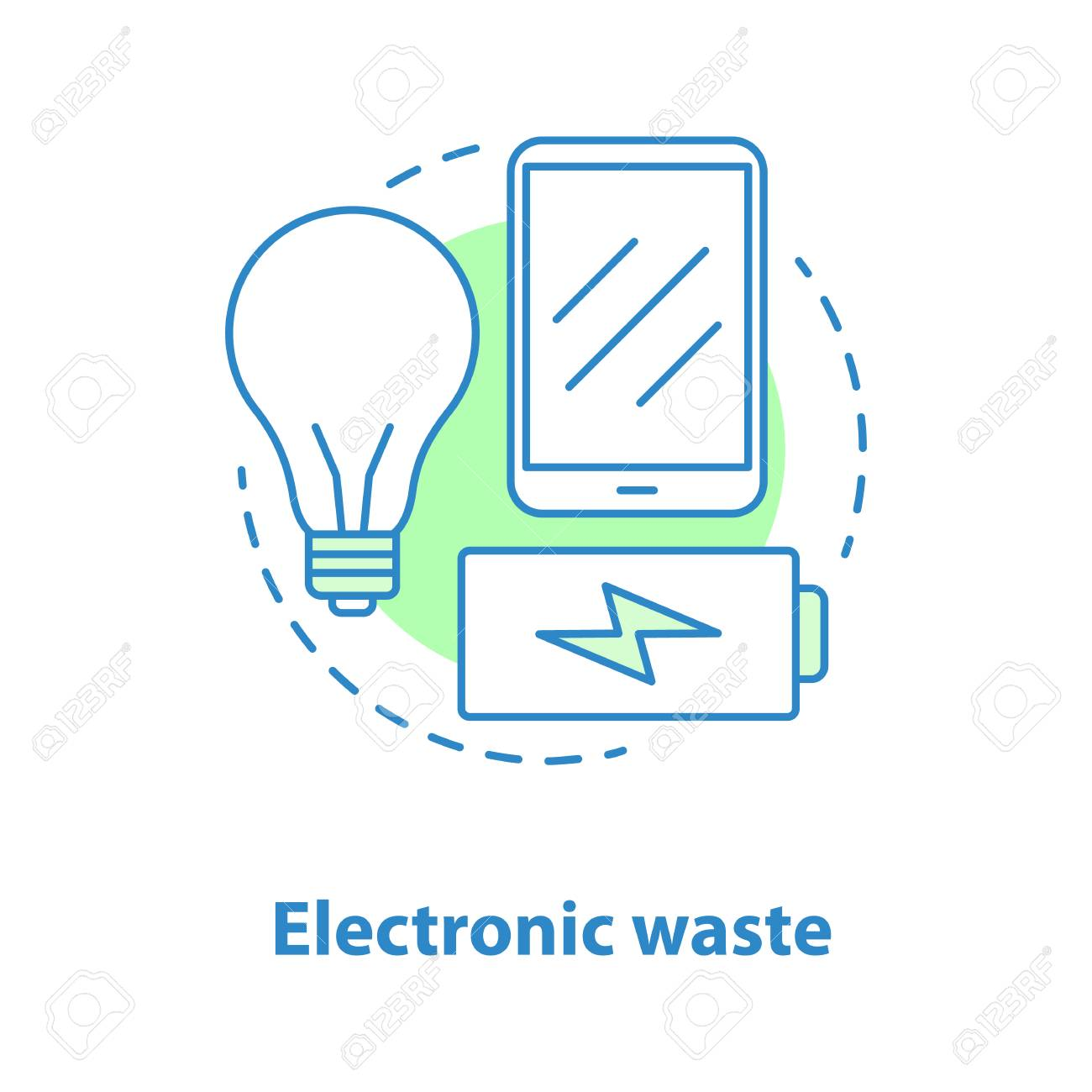 Electronic Waste Concept Icon Weee Idea Thin Line Illustration