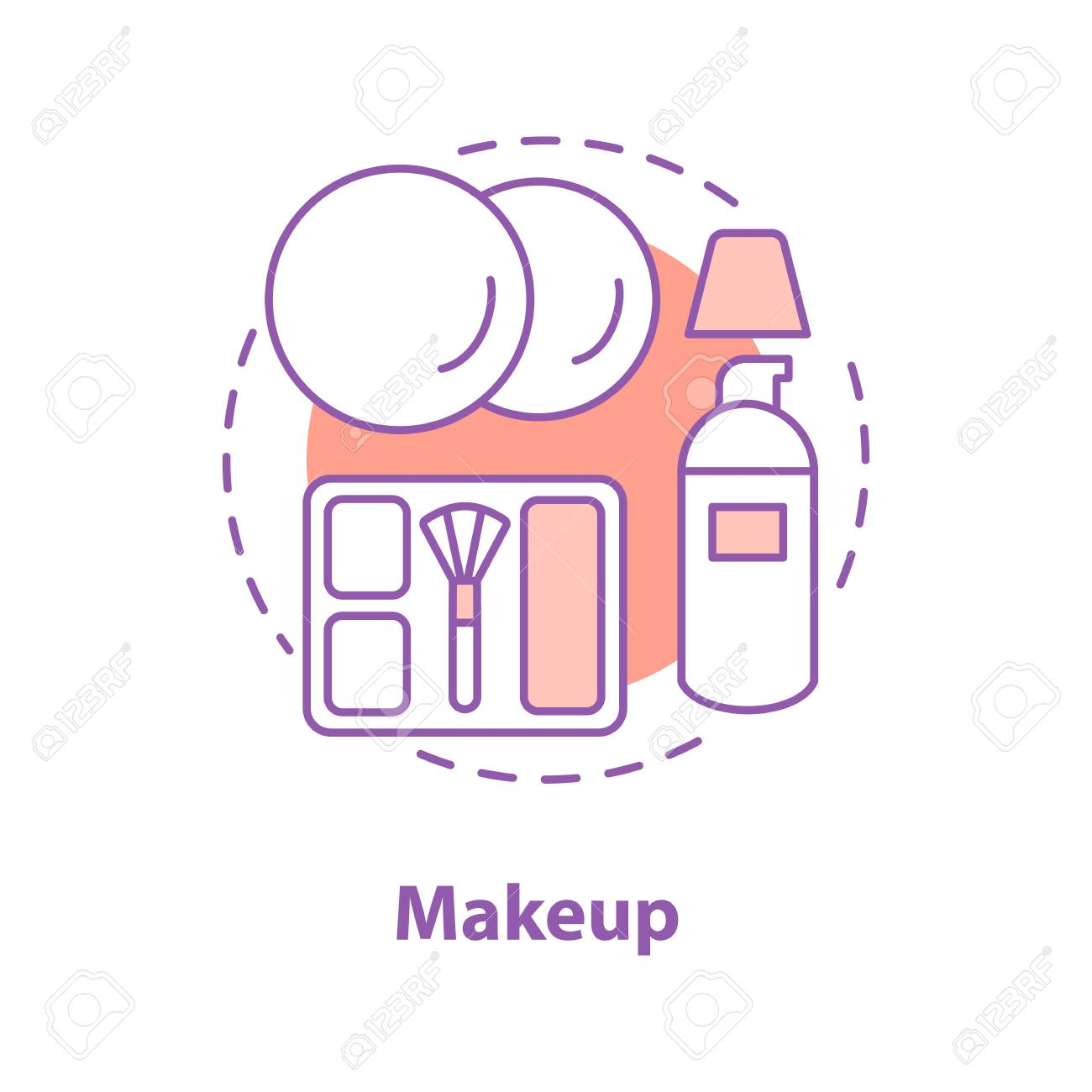 Makeup concept icon  Cosmetics idea thin line illustration  Beauty