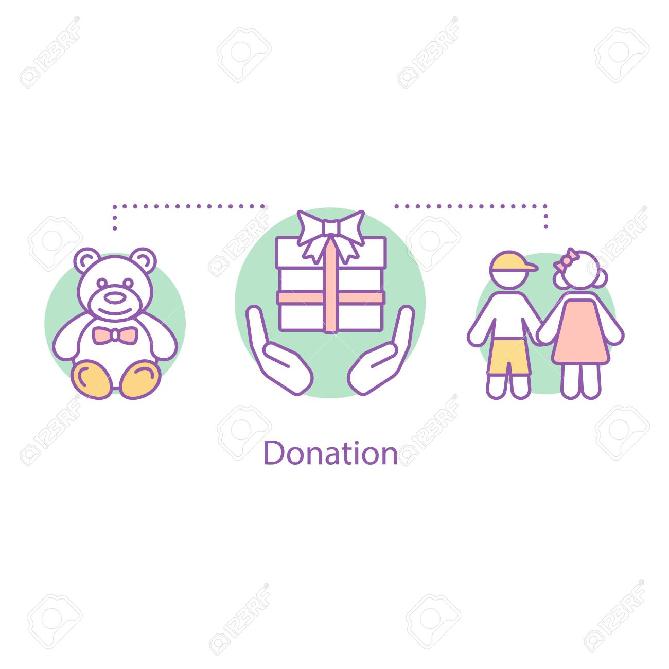 Donation Concept Icon Children S Charity Idea Thin Line Illustration Royalty Free Cliparts Vectors And Stock Illustration Image 106249892