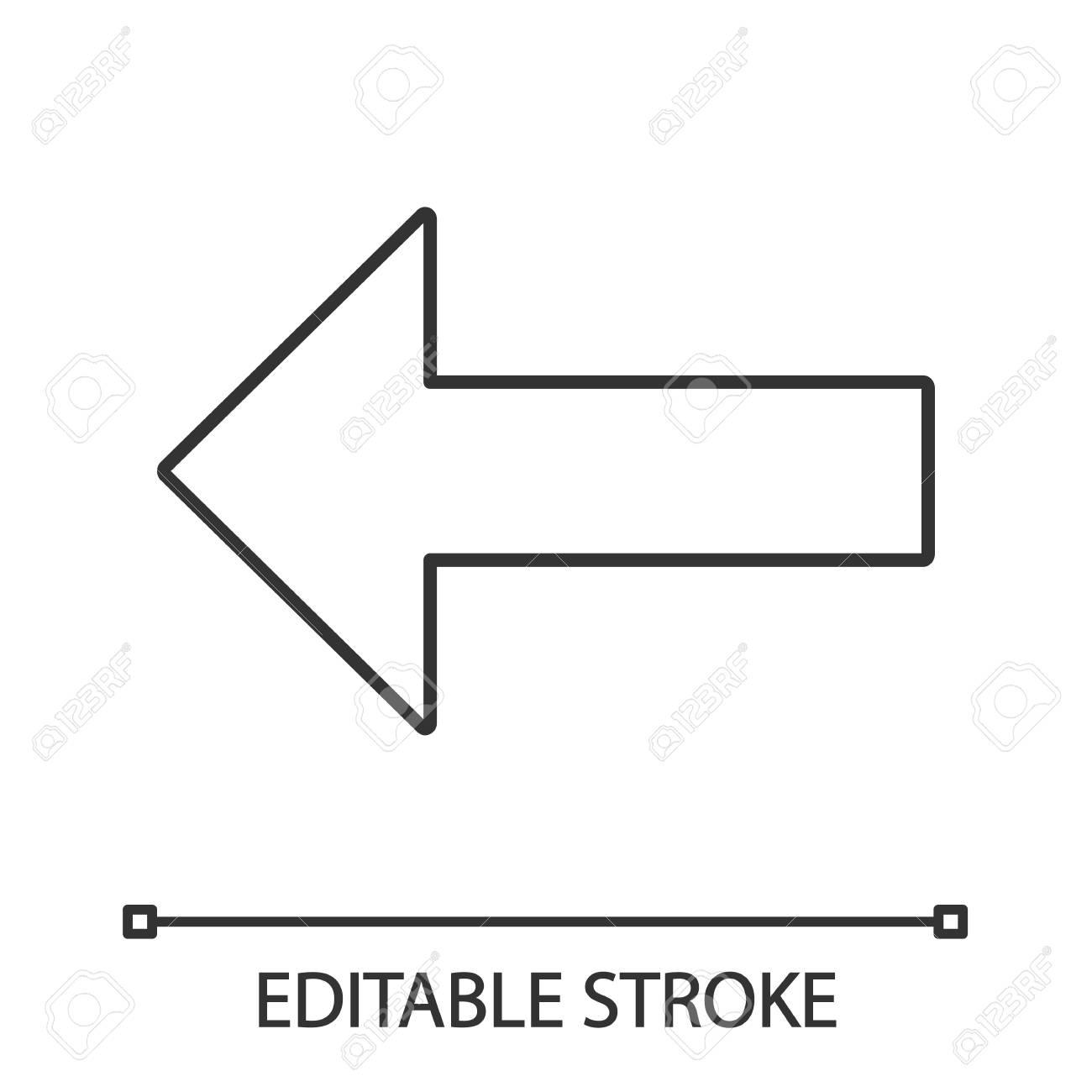 Keyboard backspace button linear icon  Back, previous  Thin line