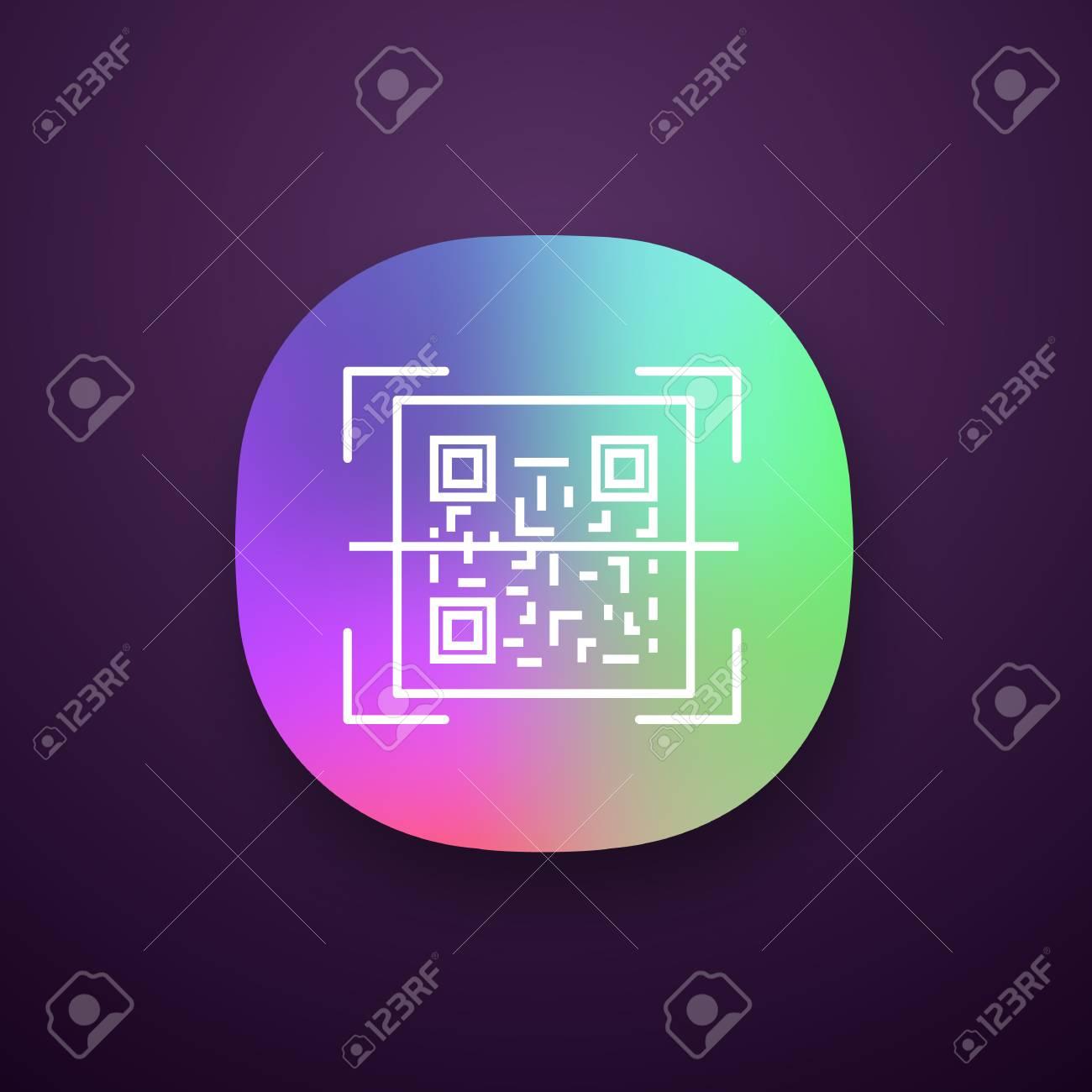 QR code scanner app icon  Quick response code  Matrix barcode