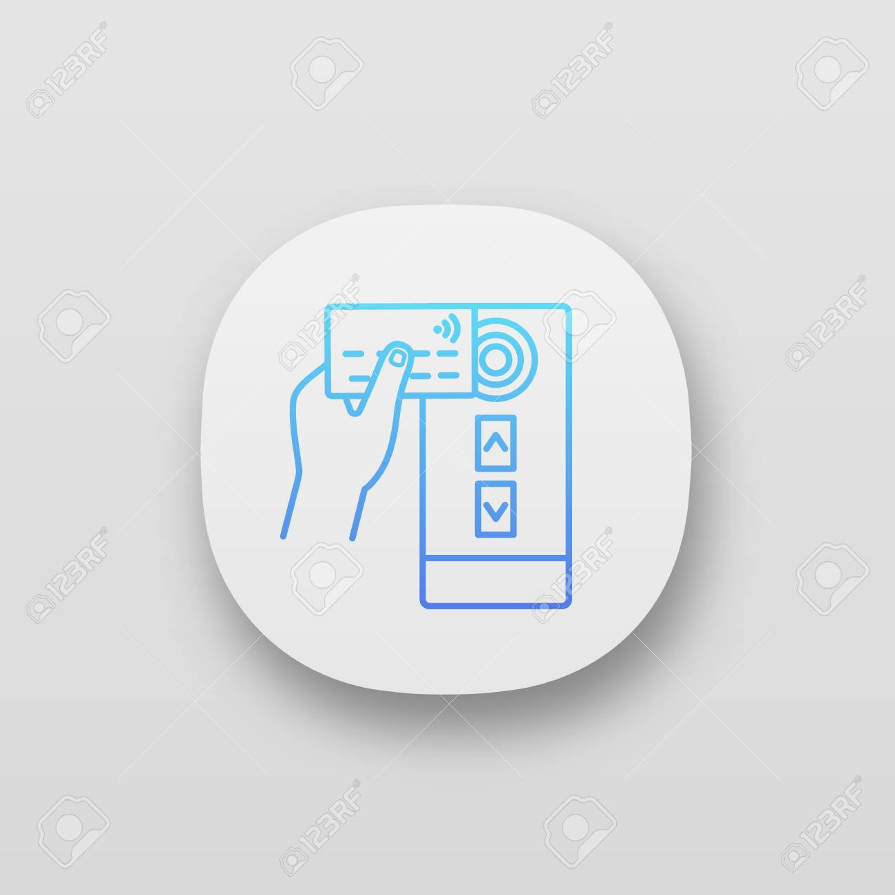 NFC credit card reader app icon  NFC public transport payment