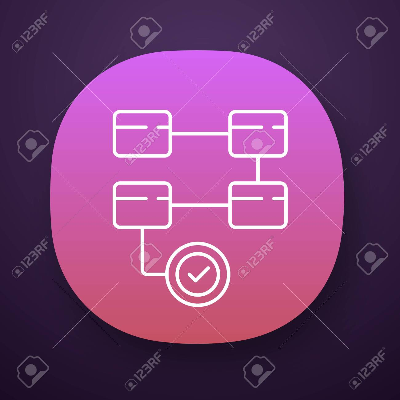 Activity Diagram App Icon Workflow Actions Process Map Deployment Royalty Free Cliparts Vectors And Stock Illustration Image 128370483
