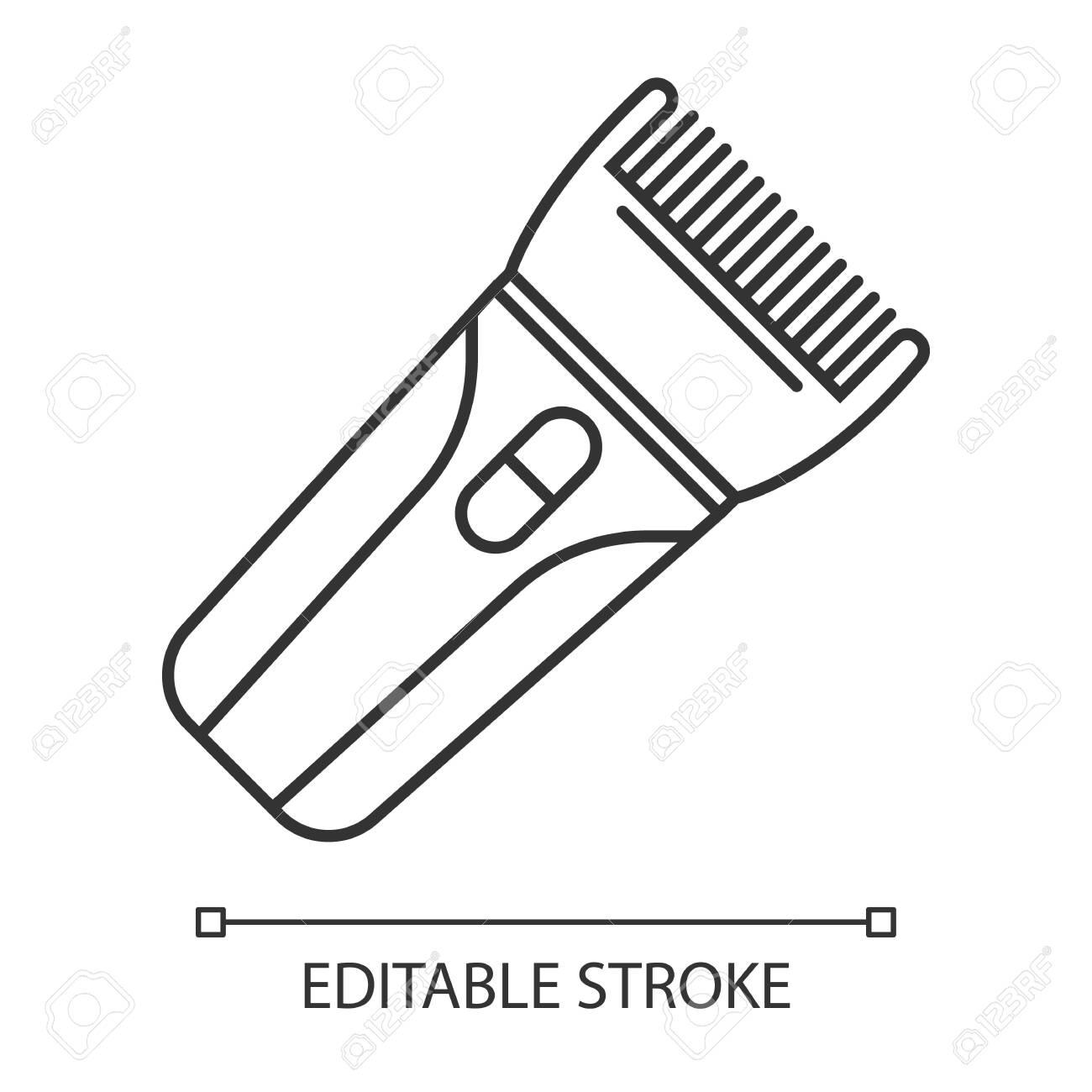 Hair clipper linear icon. Electric hair trimmer. Haircutting..