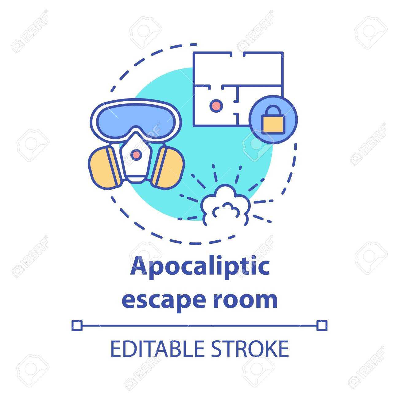 Apocalyptic Escape Room Concept Icon Disaster Theme Quest Idea Royalty Free Cliparts Vectors And Stock Illustration Image 132919336