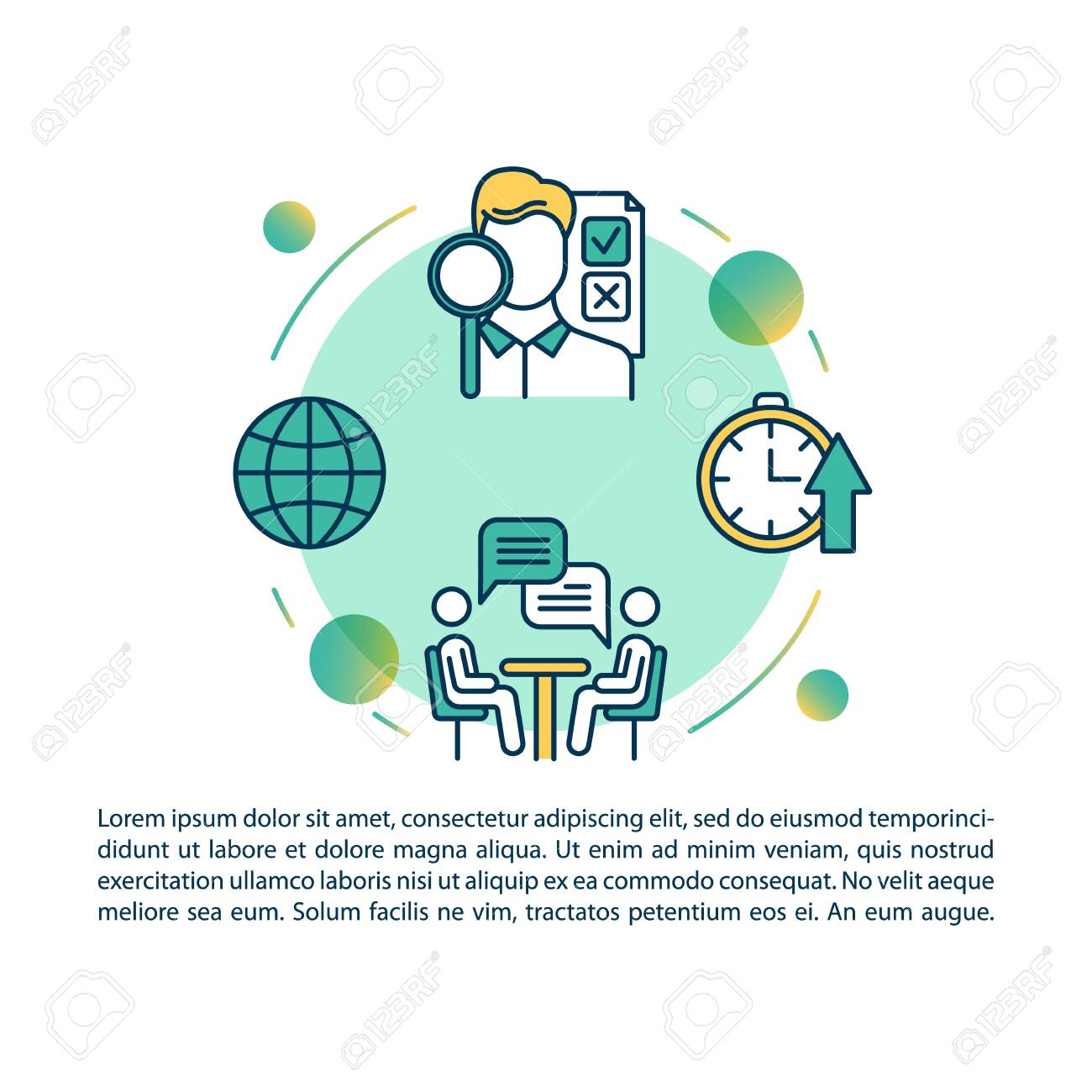 Local production article page vector template. Small business benefits. Quality control. Brochure, magazine, booklet design element with linear icons. Print design. Concept illustrations with text - 134836877