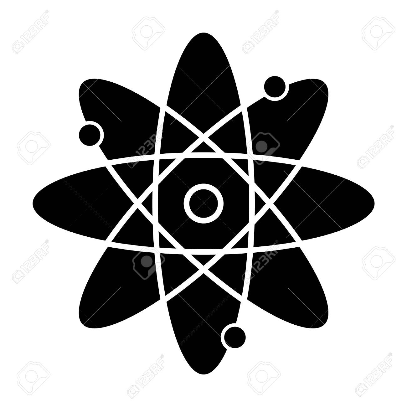 molecule atom glyph icon nuclear energy atom core with electrons royalty free cliparts vectors and stock illustration image 137398152 molecule atom glyph icon nuclear energy atom core with electrons