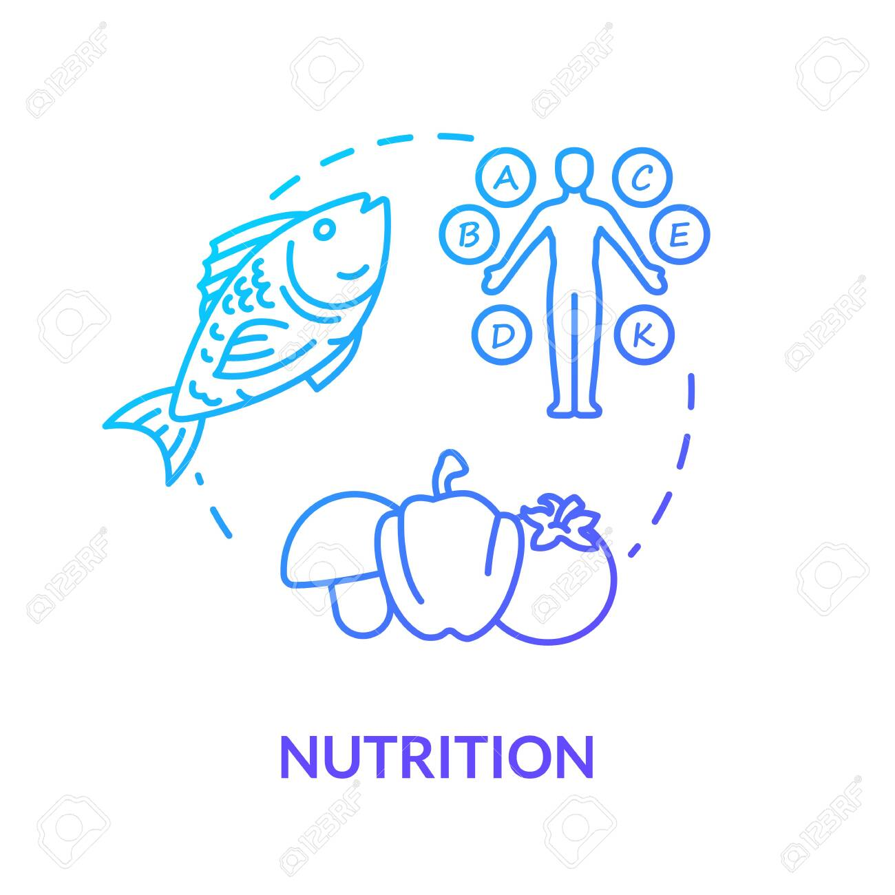 Nutrition Concept Icon Healthy Eating Balanced Diet Idea Thin Royalty Free Cliparts Vectors And Stock Illustration Image 140703302