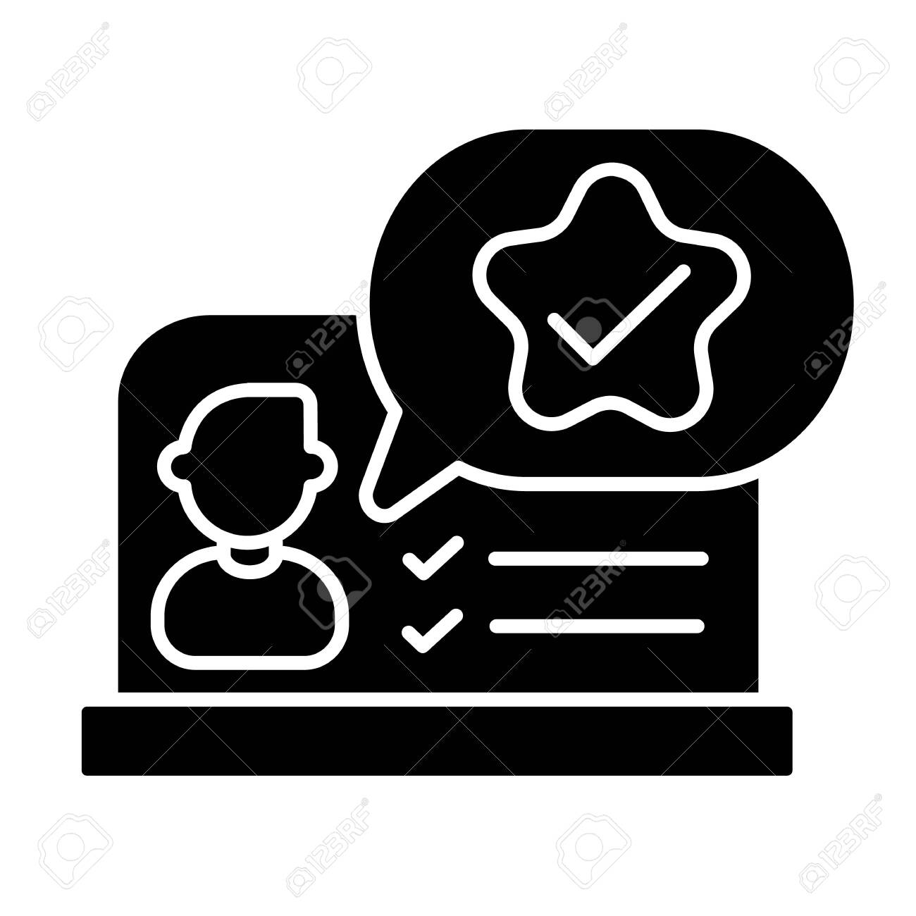 Feedback Black Glyph Icon Online Evaluation Service Hr Management Royalty Free Cliparts Vectors And Stock Illustration Image 153397793 A symbol of good and bad quality. feedback black glyph icon online evaluation service hr management