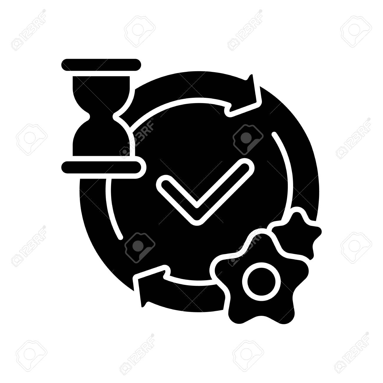 Processing Black Glyph Icon. Network Request Handling Notification... Royalty Free Cliparts, Vectors, And Stock Illustration. Image 153733576.