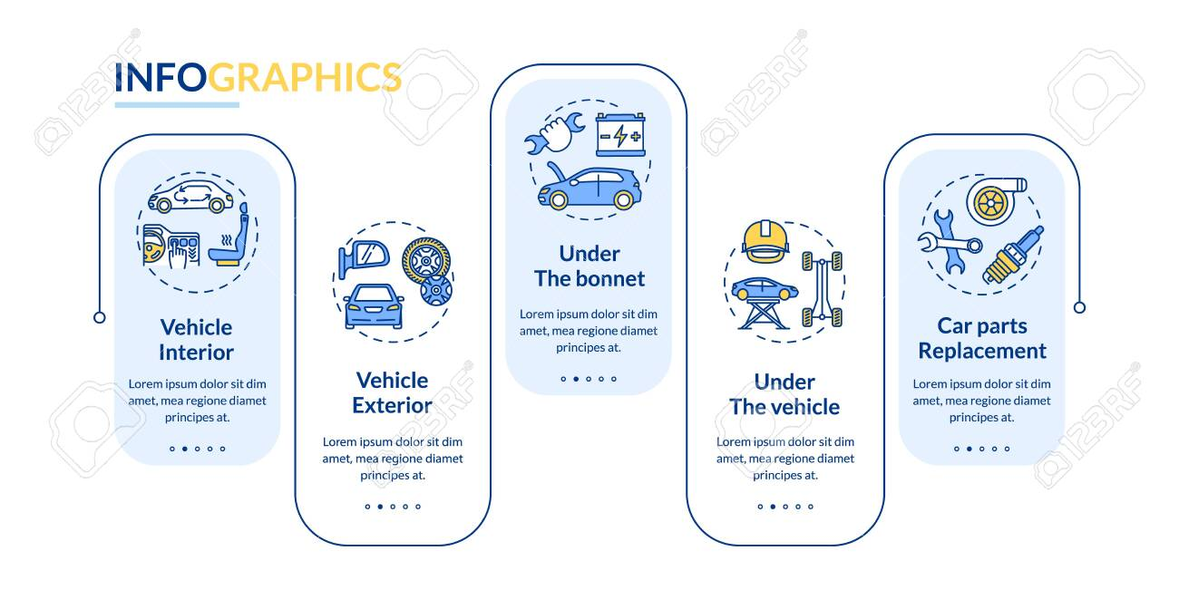 Mechanical Vehicle Service Vector Infographic Template Auto Royalty Free Cliparts Vectors And Stock Illustration Image 154387343