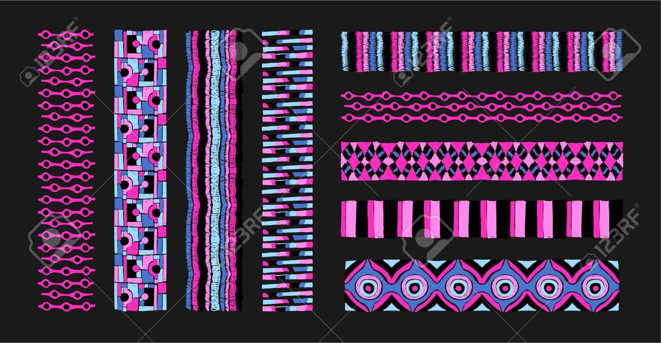 Conjunto De Pinceles De Arte étnico En Estilo Africano. El Patrón ...