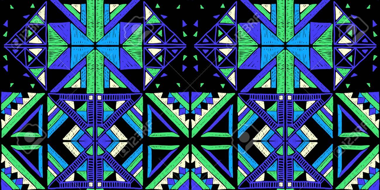 Patrones Africanos Geométricos Sin Fisuras. Adornos étnicos En La ...