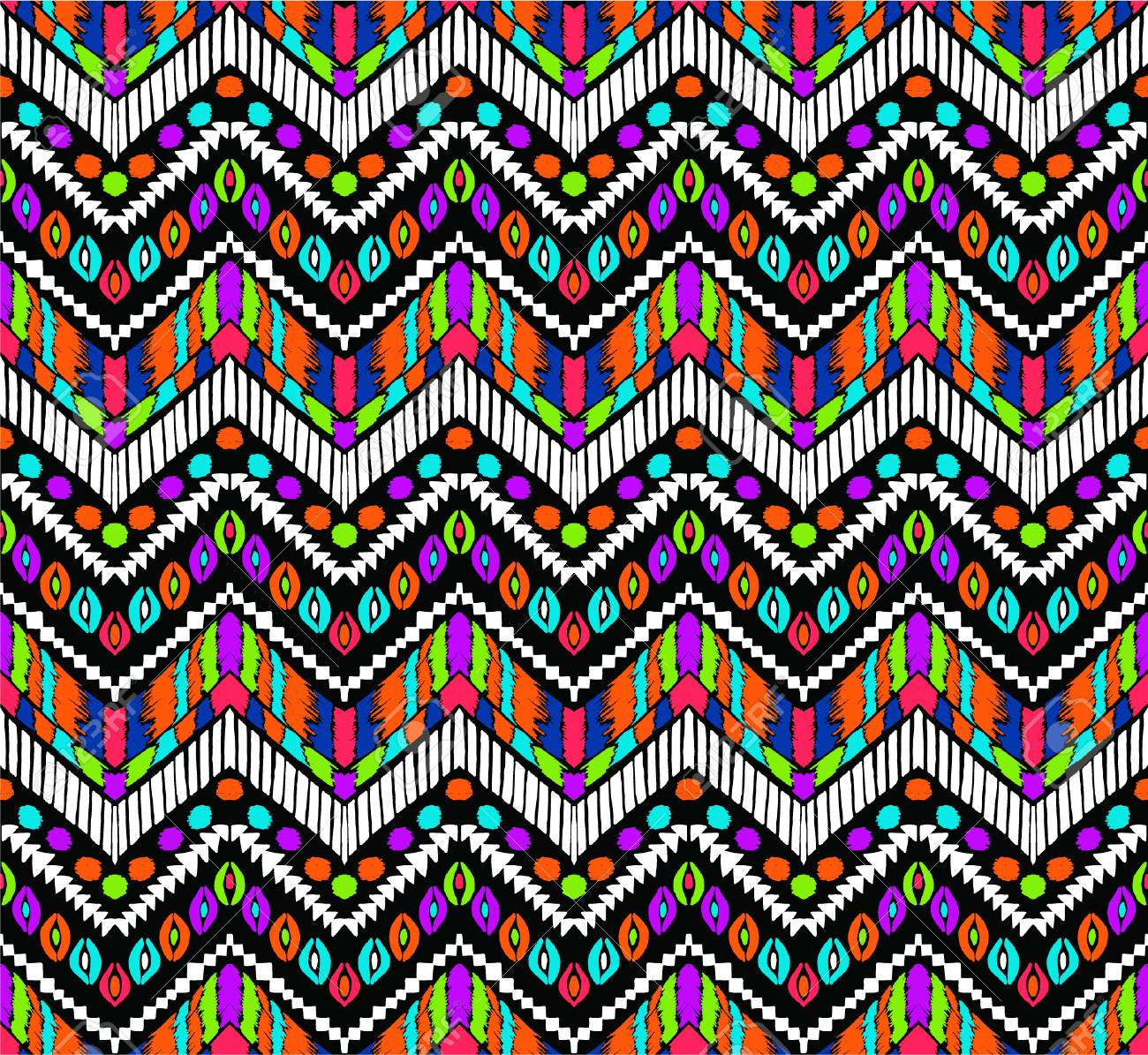 tribal vector ornament seamless african pattern ethnic carpet with