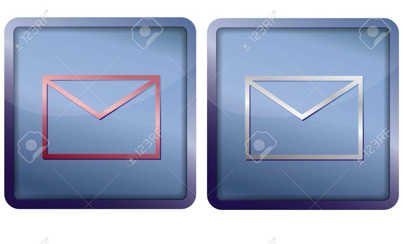 envelope icon Stock Vector - 14921346