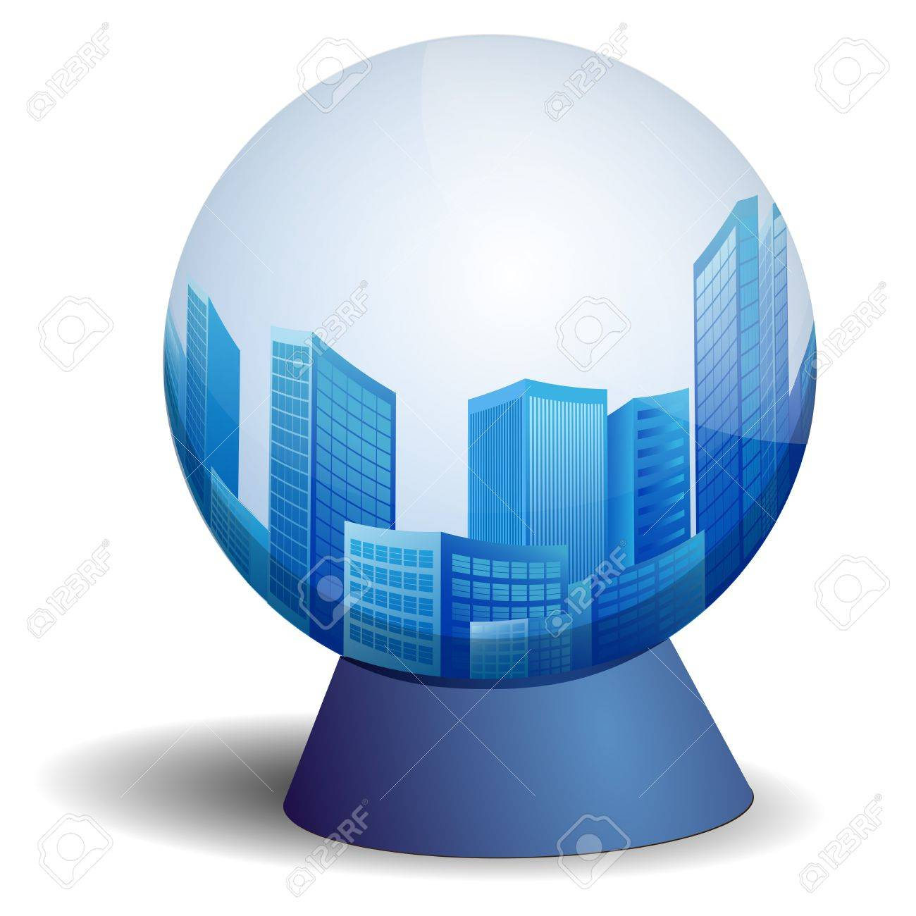 city in scrying ball Stock Vector - 15977768