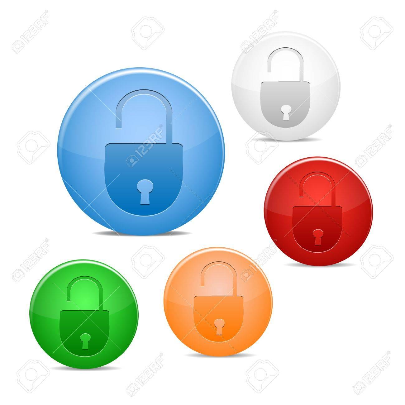 open lock icon Stock Vector - 16245138