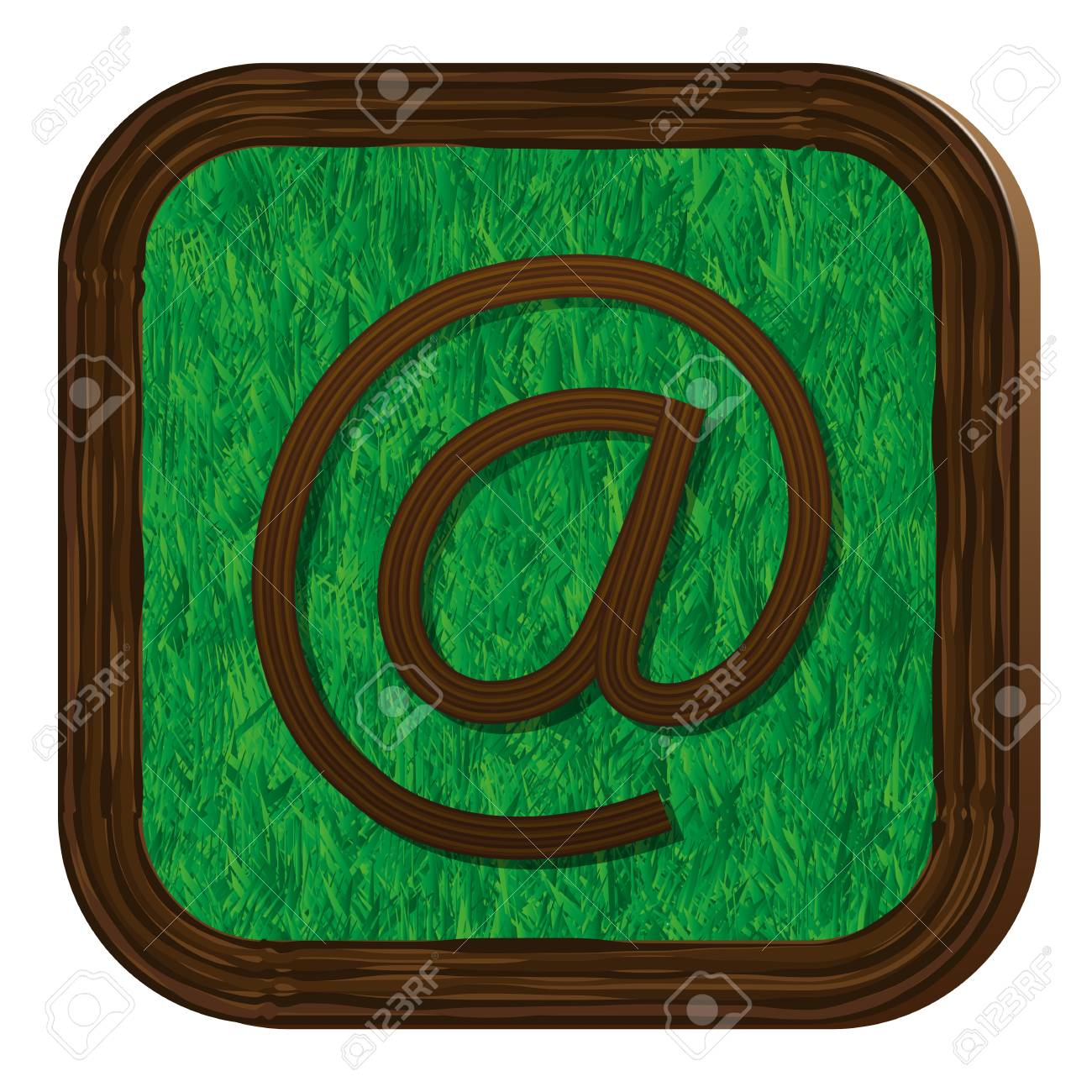 tree-herbal e-mail icon Stock Vector - 16463896