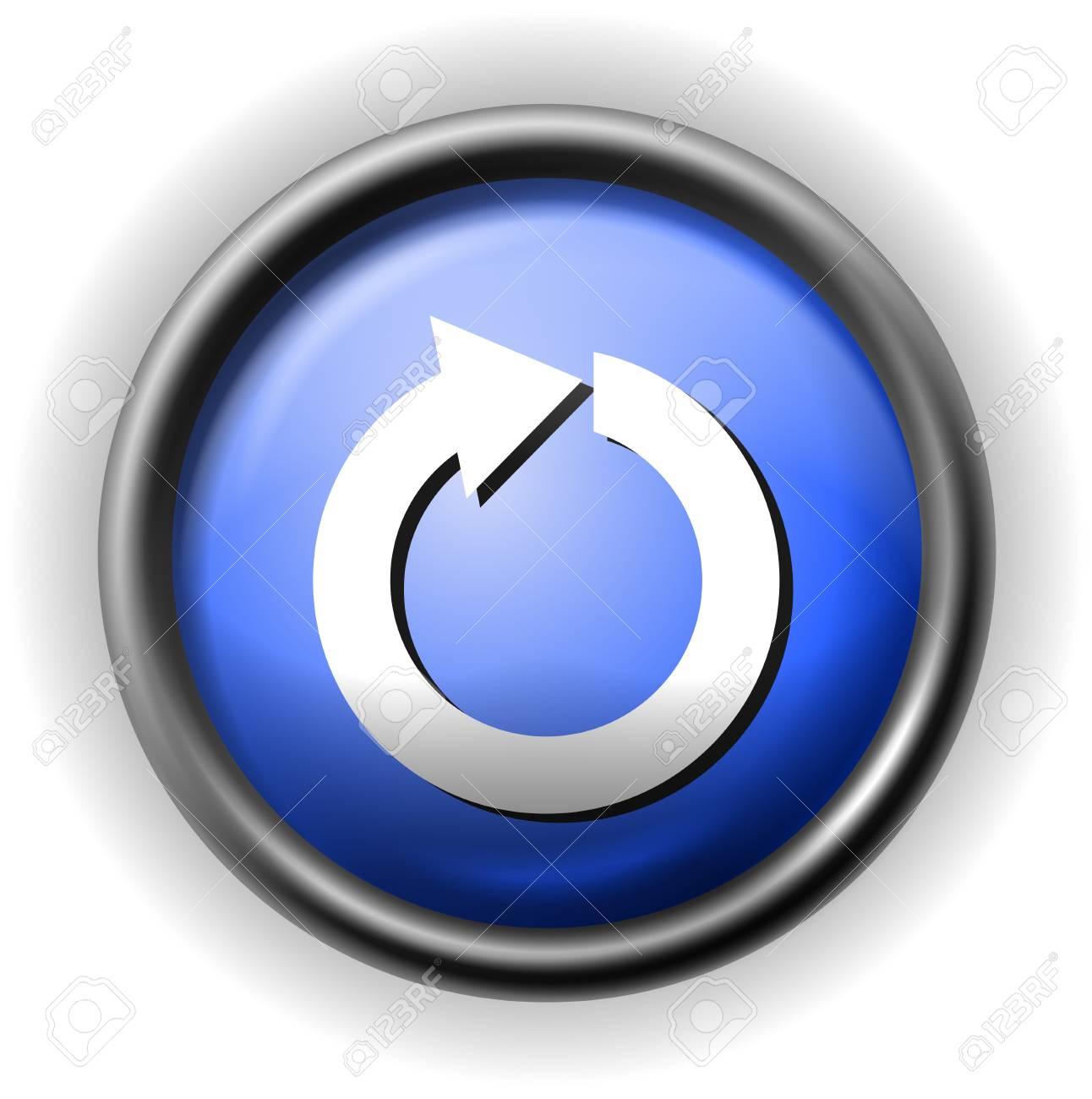 Glass refresh icon Stock Vector - 16927569