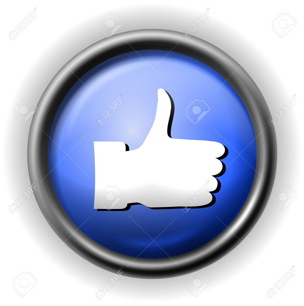 Glass thumb up icon Stock Vector - 16927566