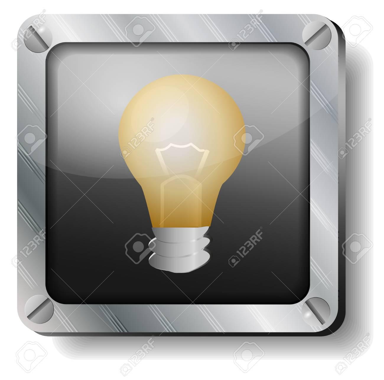 steel bulb icon Stock Vector - 17380390