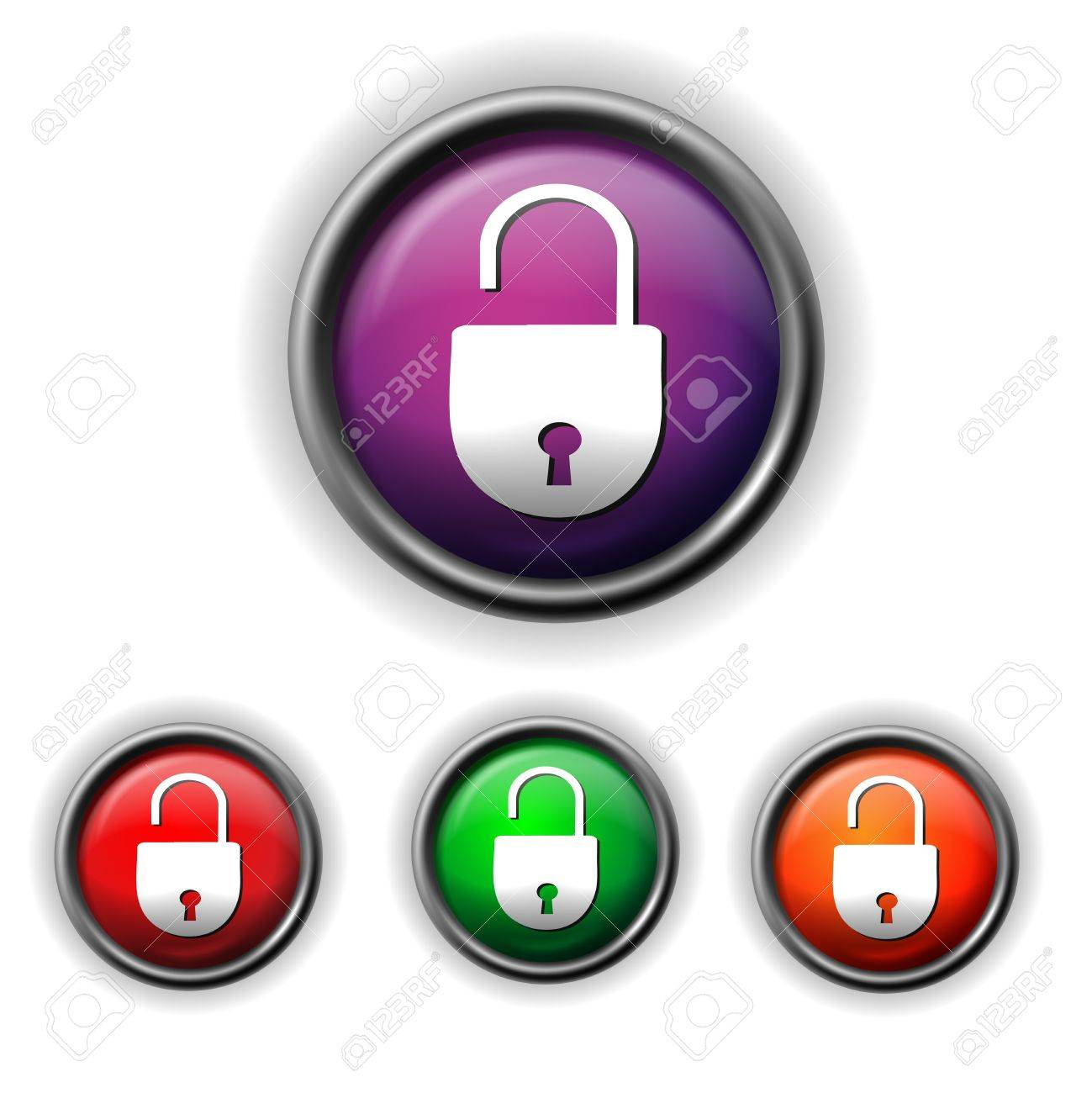 open lock icon Stock Vector - 17778776