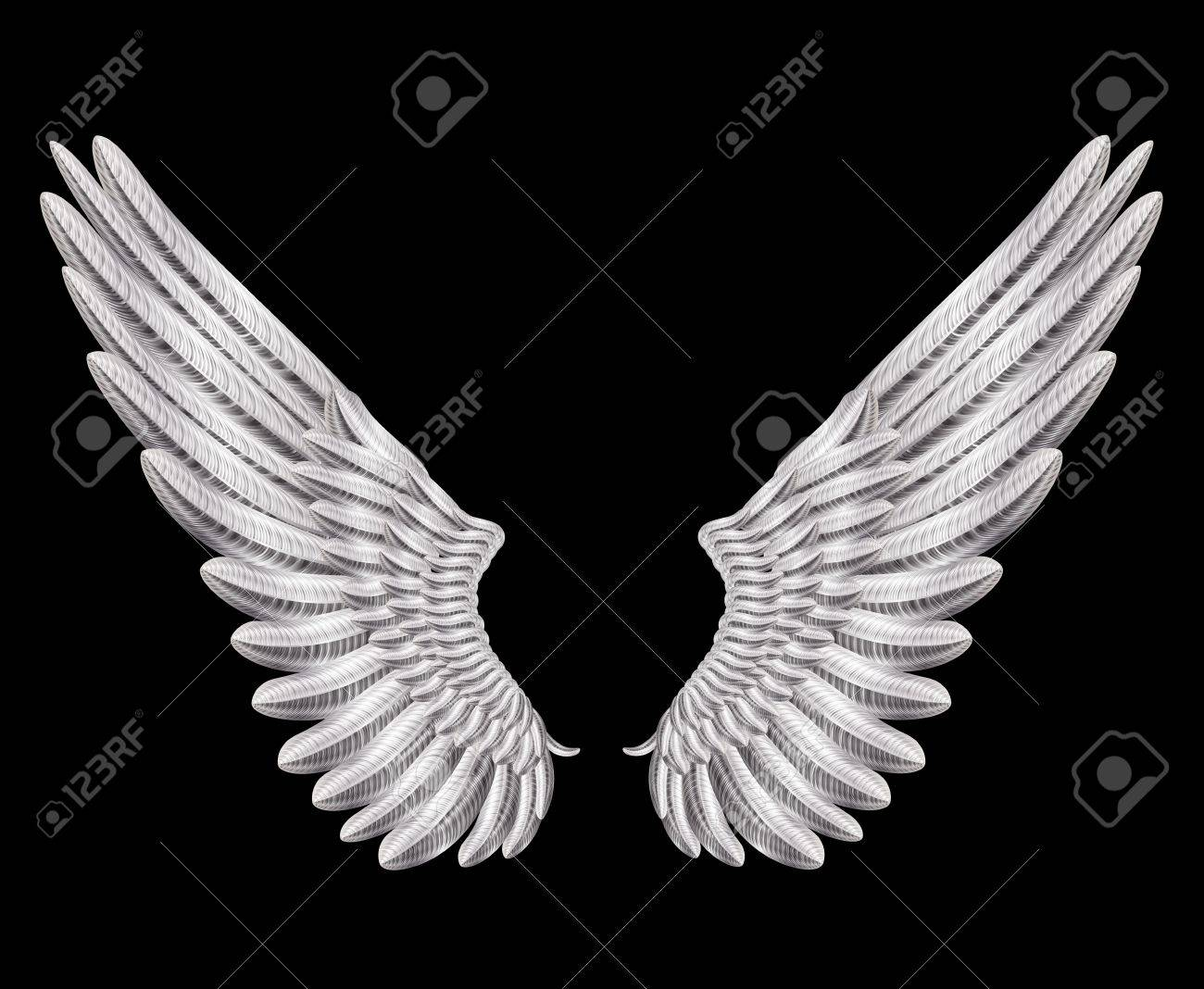 silver wings Stock Vector - 17967997