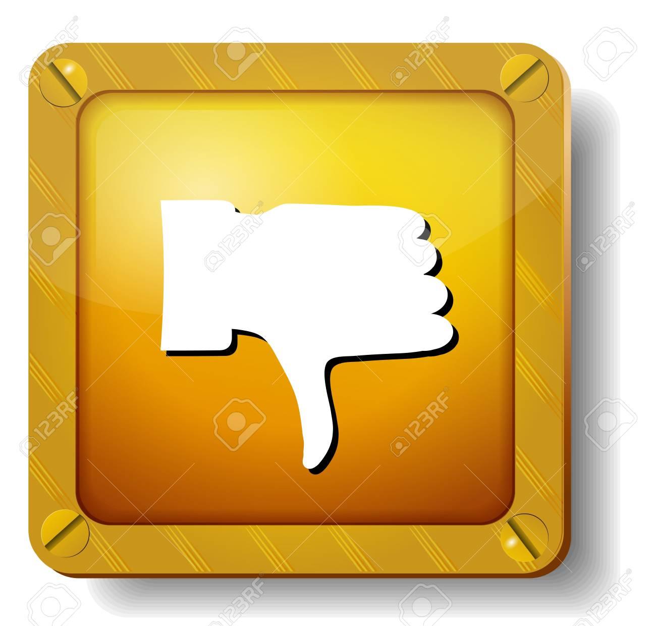 golden thumb down icon Stock Vector - 20269696