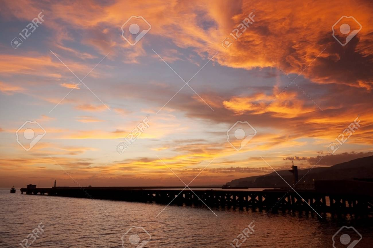 Beach in Almeria at sunset, Andalusia, Spain Stock Photo - 14228203