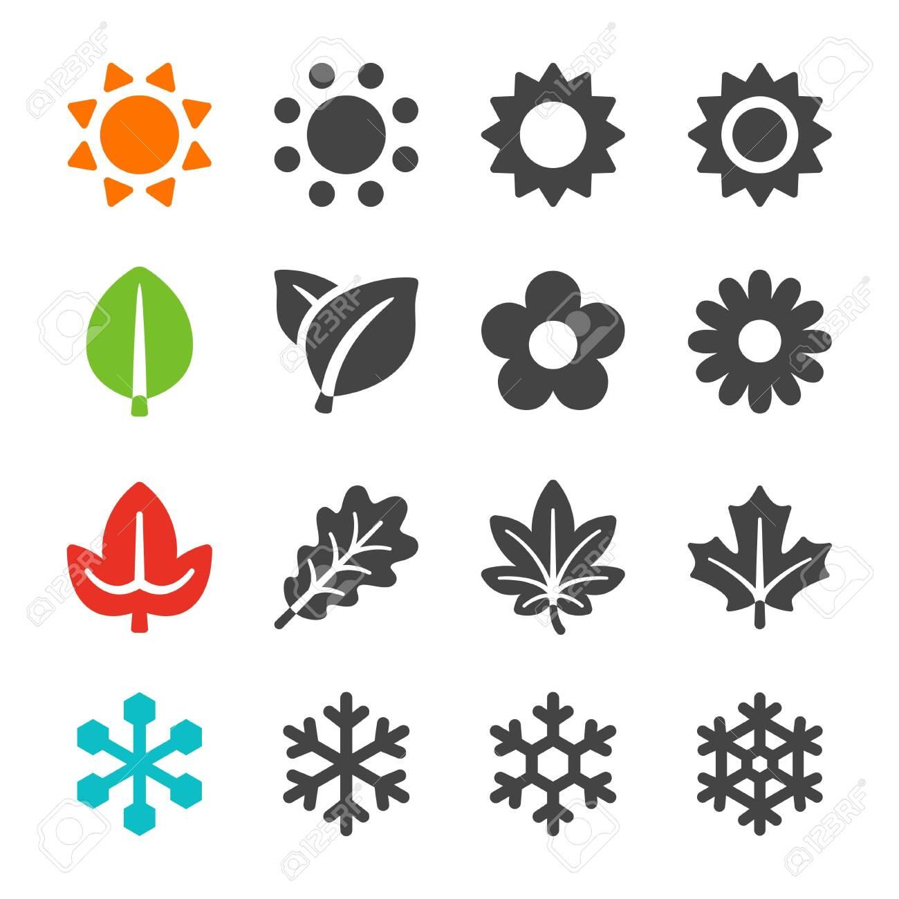 four season icon set,vector and illustration - 130771835