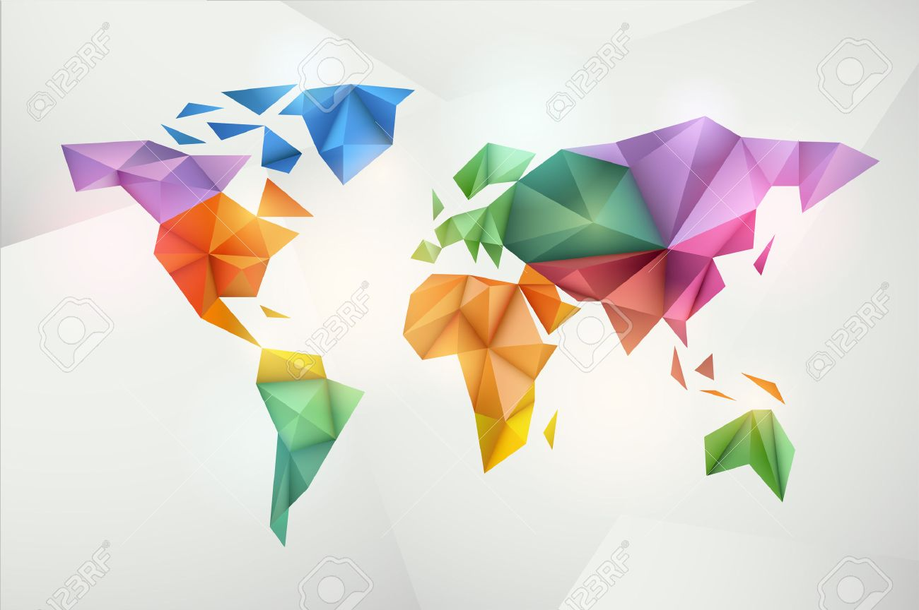 World map background in origami style vector background eps world map background in origami style vector background eps 10 stock vector 25425217 gumiabroncs Image collections