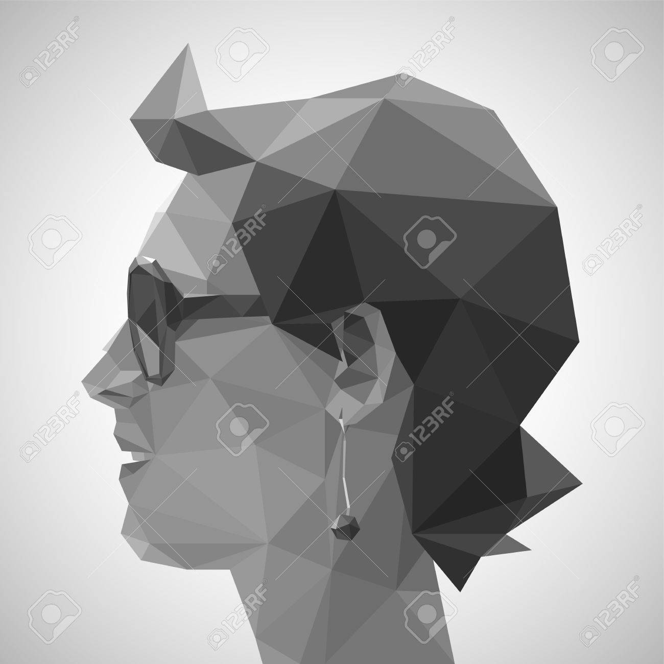 Young Woman In Origami Style Royalty Free Cliparts Vectors And