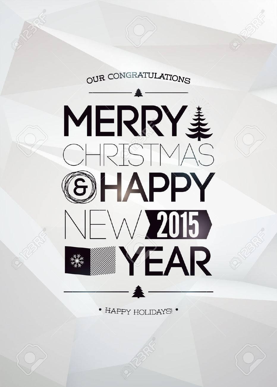 Frohe Weihnachten Und Ein Glückliches Neues Jahr Design. Lizenzfrei ...