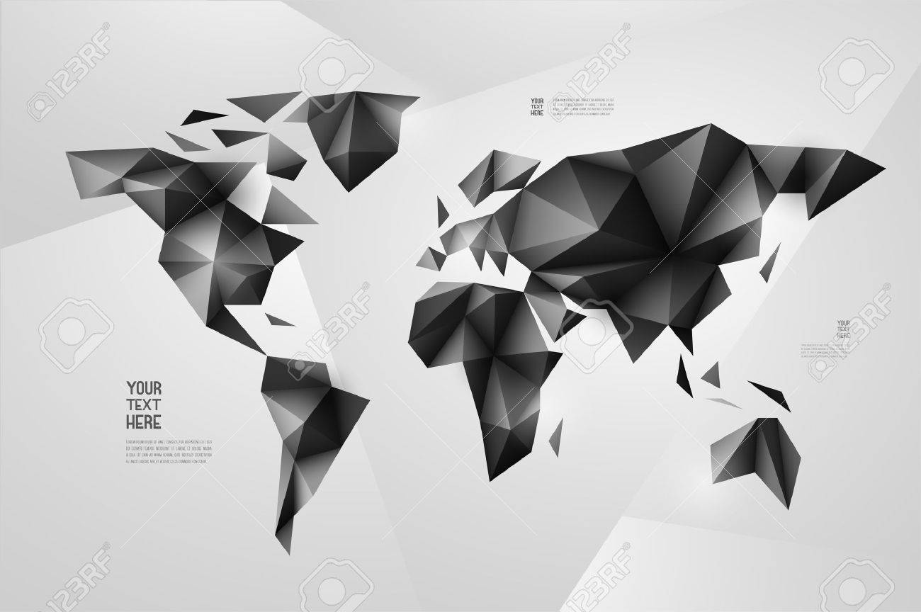 World map background in origami style vector background eps vector world map background in origami style vector background eps 10 gumiabroncs Gallery
