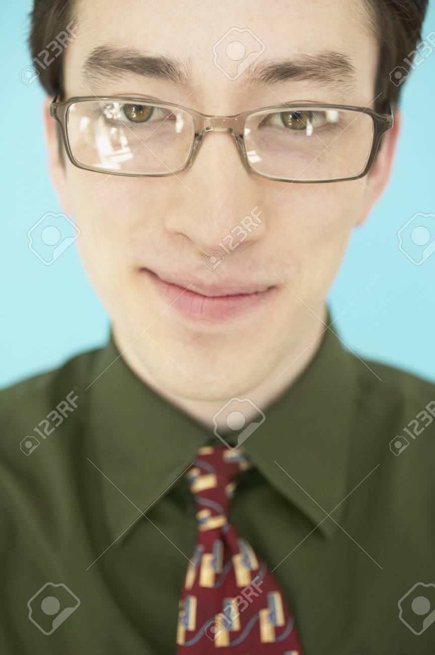 Closeup of a smiling businessman Stock Photo - 16071157