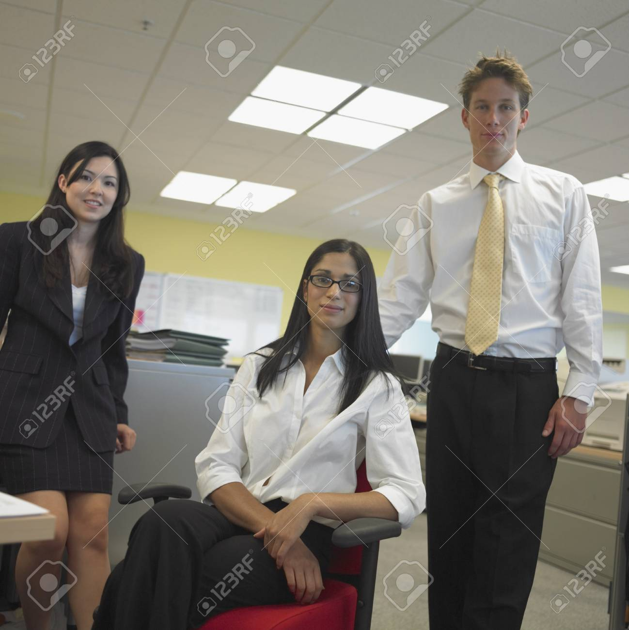 Man and women in office Stock Photo - 16072556