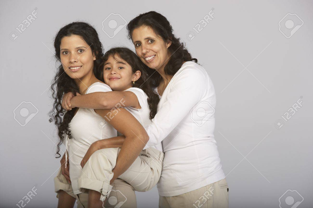 Portrait of grandmother, granddaughter and daughter Stock Photo - 16073650